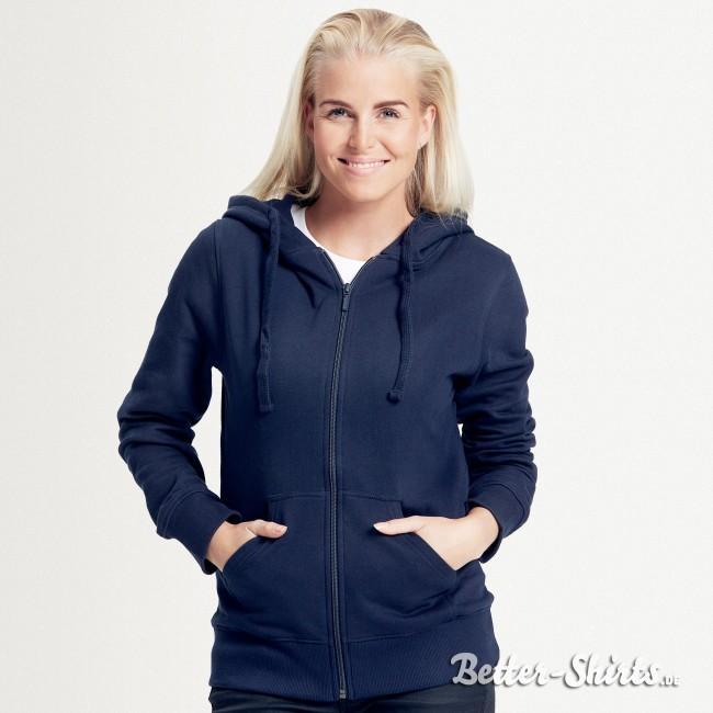 BIO Zip Hoodie für Damen, Kapuzenpullover mit Reißverschluss